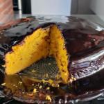 Bolo de Cenoura SEM ERRO com cobertura de chocolate